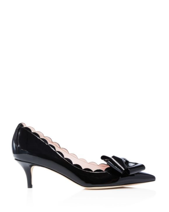 5af1b084572b kate spade new york Maxine Scalloped Bow Pumps