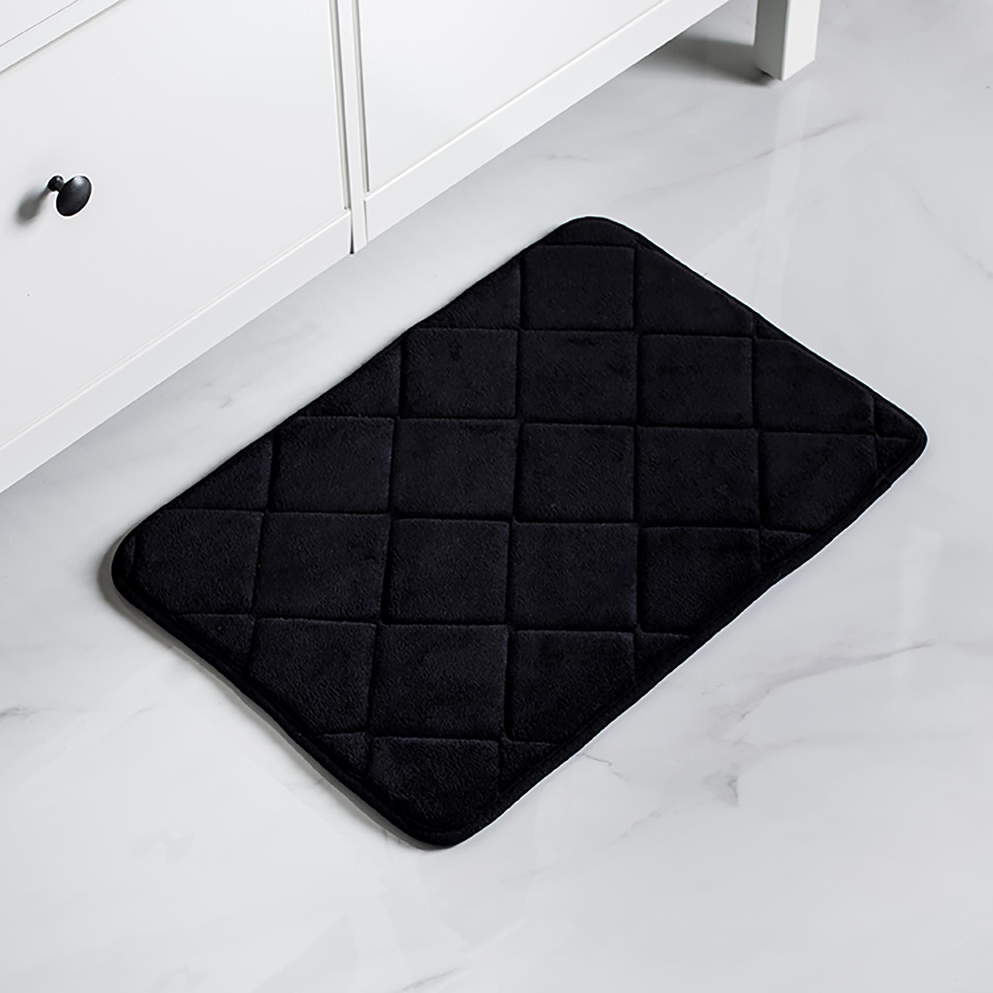 Harman Supreme Medium Microfiber Memory Foam Bathmat Black