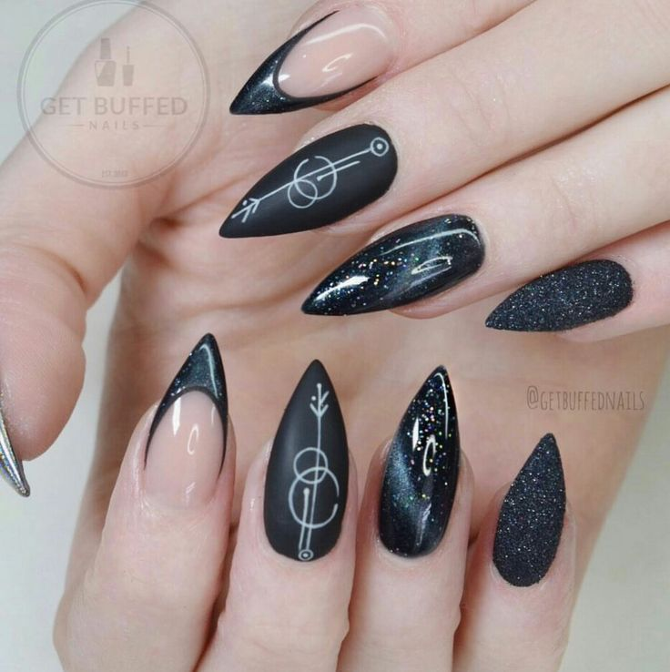 Image result for witchy nails | Witchy nails, Goth nails ...