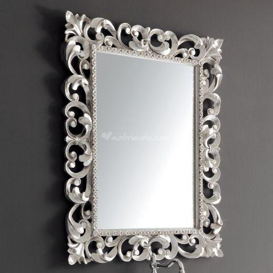 Specchio argento cornice Barocca di Ceramiche Civita Castellana ...