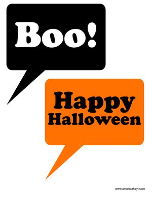 photo relating to Halloween Photo Booth Props Printable Free called Speech Bubbles against Halloween Preset Halloween Halloween