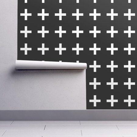 PeelandStick Removable Wallpaper Geometric Swiss Cross