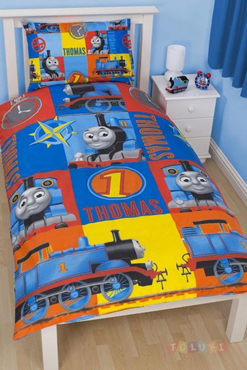 Parure de lit Thomas le petit train http://www.toluki.com/prod.php ... : thomas single bed quilt cover - Adamdwight.com
