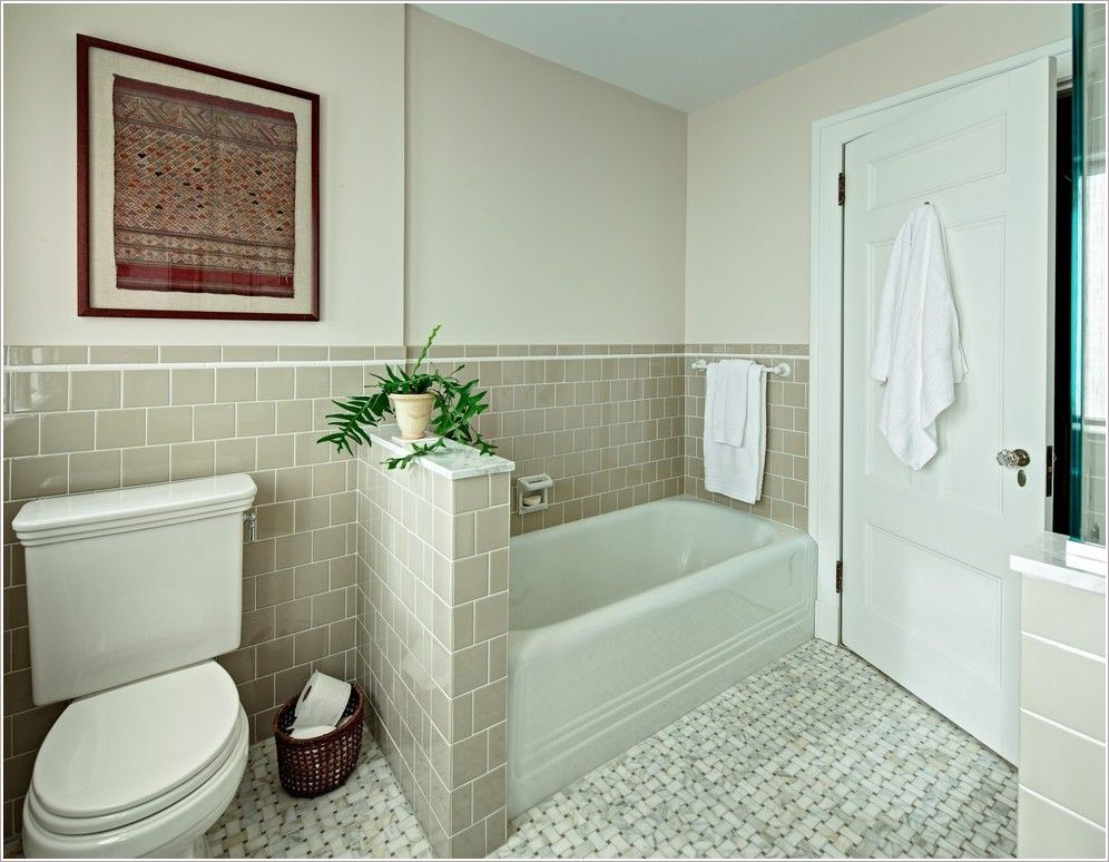 Alcove Bathtub Bathroom Traditional New York 4x4 Tile Alcove Tub ...