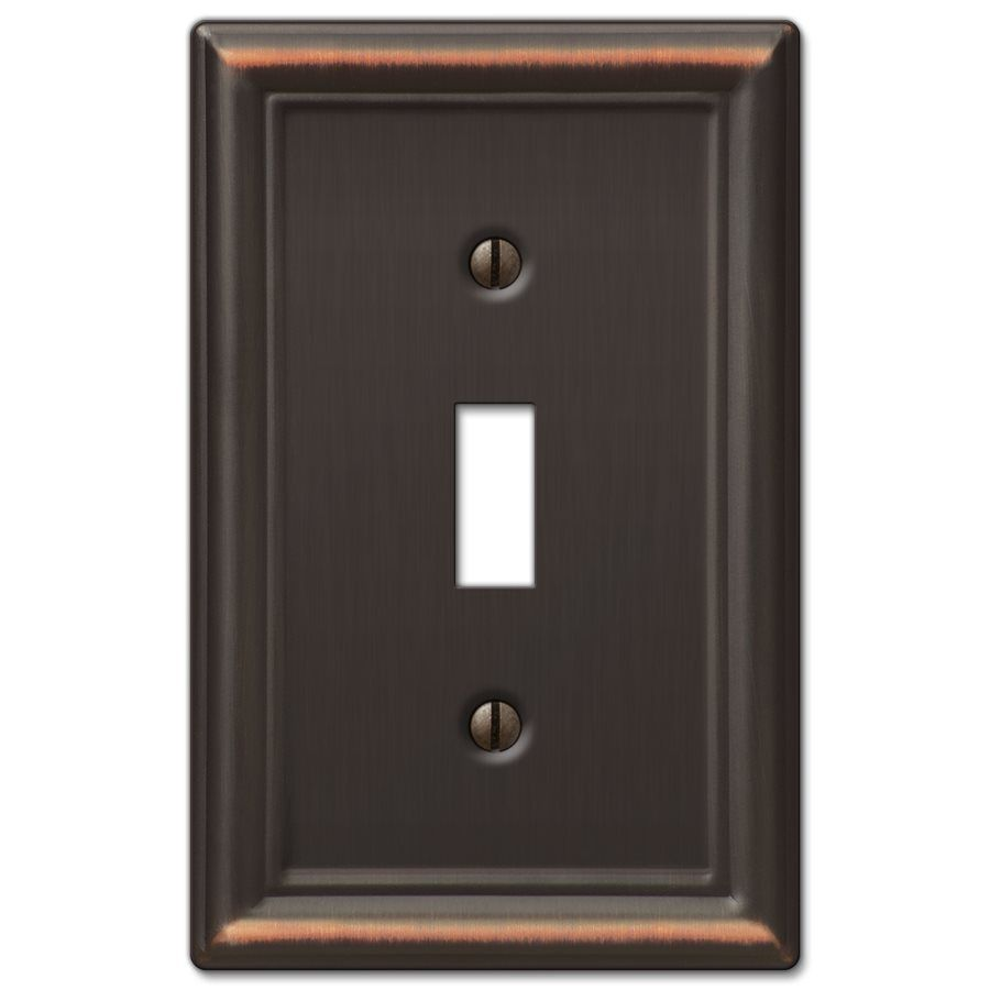 Amerelle Wall Plates Adorable Amerelle Wall Plate 149Tdb Chelsea 1Gang Aged Bronze Standard Decorating Design