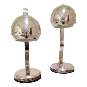 Beautiful couple of chrome table lamps from the '60s.