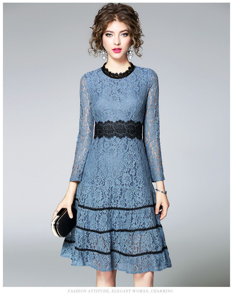 Buy Ozipan Long Sleeve Lace Dress At Yesstylecom Quality