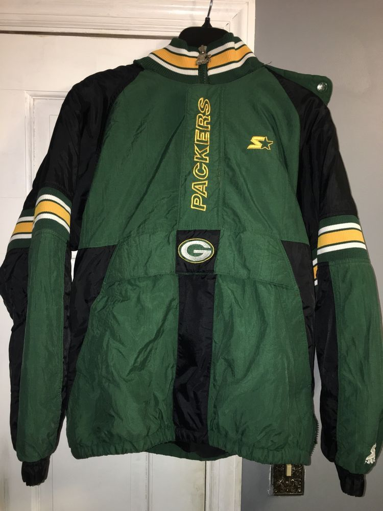 pretty nice 7a0dd 88ca8 Starter NFL Green Bay Packers Puff Jacket DAMAGED | eBay ...