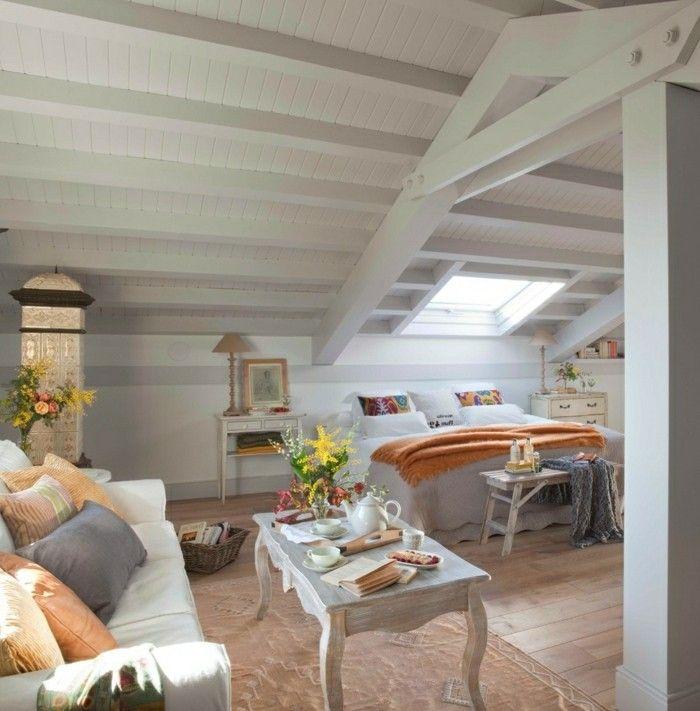 schlafzimmer einrichten blumendeko und frische akzente - schlafzimmer mit dachschräge gestalten