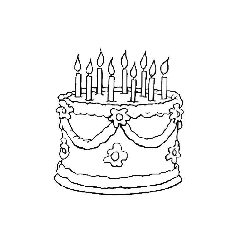 Free Printable Happy Birthday Coloring Pages | Paper Trail Design | 760x760