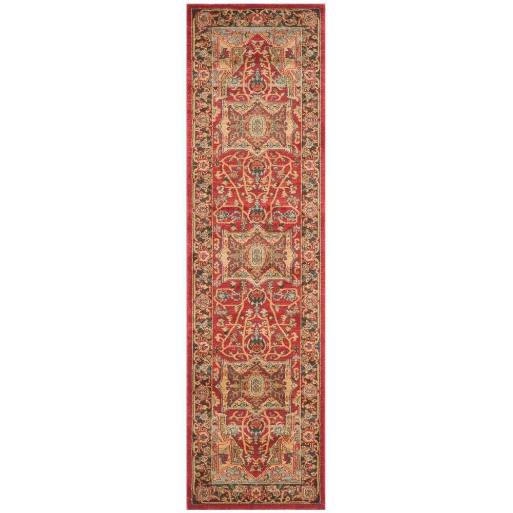 Best Safavieh Mahal Natural Navy 2 Ft X 12 Ft Runner Rug 400 x 300