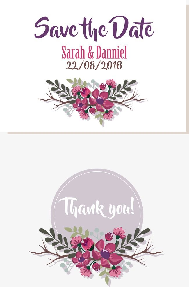 Vector Purple Border Wedding Clipart Invitation Card