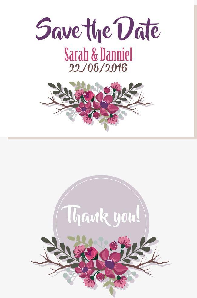 Vector Purple Border Wedding Clipart Invitation Card Purple Png