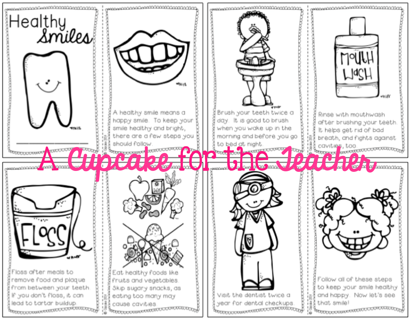 A Cupcake For The Teacher Dental Health Reader Freebie