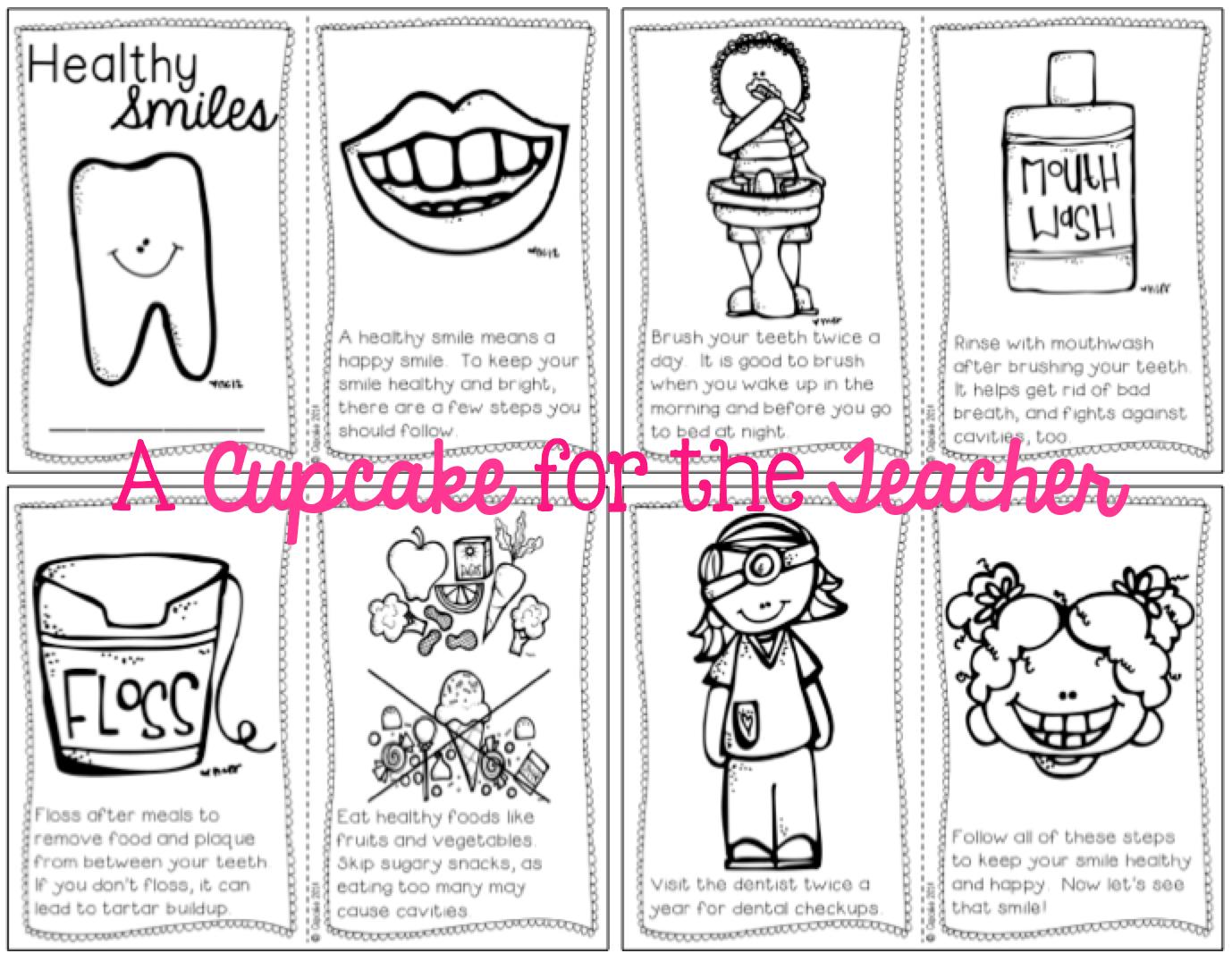 A Cupcake For The Teacher Dental Health Reader Freebie