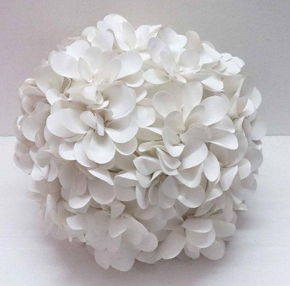 Snow White White Flower Pillow Pouf Shaped Pillow Laser Cut Flower