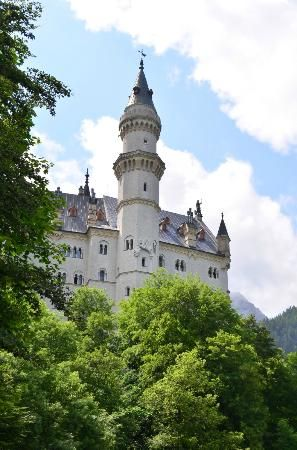 Neuschwanstein Castle Is A 19th Century Romanesque Revival Palace On A Rugged Hill Above The Villag Neuschwanstein Castle Germany Castles Schloss Neuschwanstein