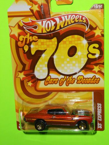2012 hotwheels cars of the decades the 70s ss express rare - Rare Hot Wheels Cars 2012
