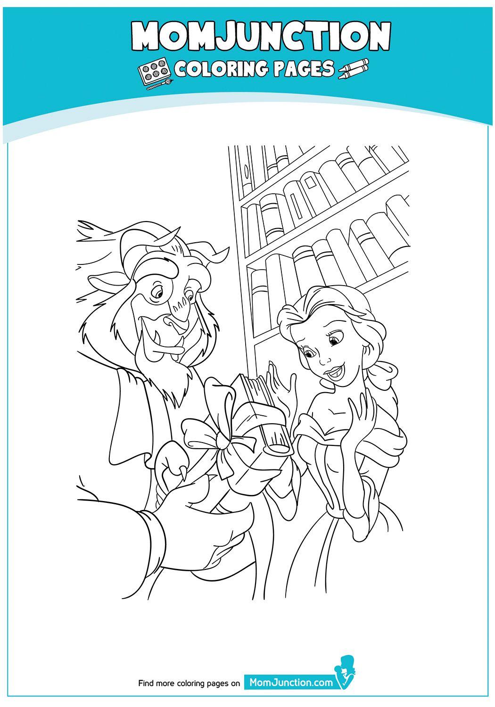 TheBeastAndBelleinTheLibrary17 Belle coloring