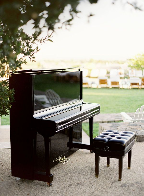 I want a piano. It doesn't matter if it is an upright or a grand piano... But this tufted bench is a must!