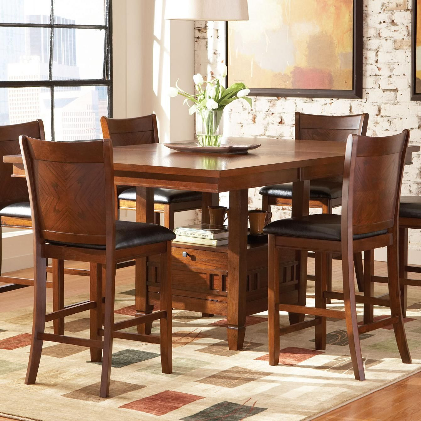 Bar height square kitchen table  Thomson Counter Height Table by Coaster  Dadus  Pinterest