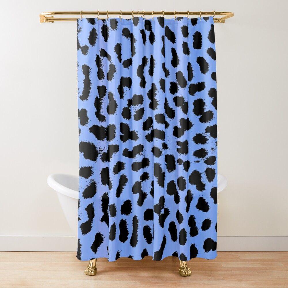 leopard muster in hellblau cheetah