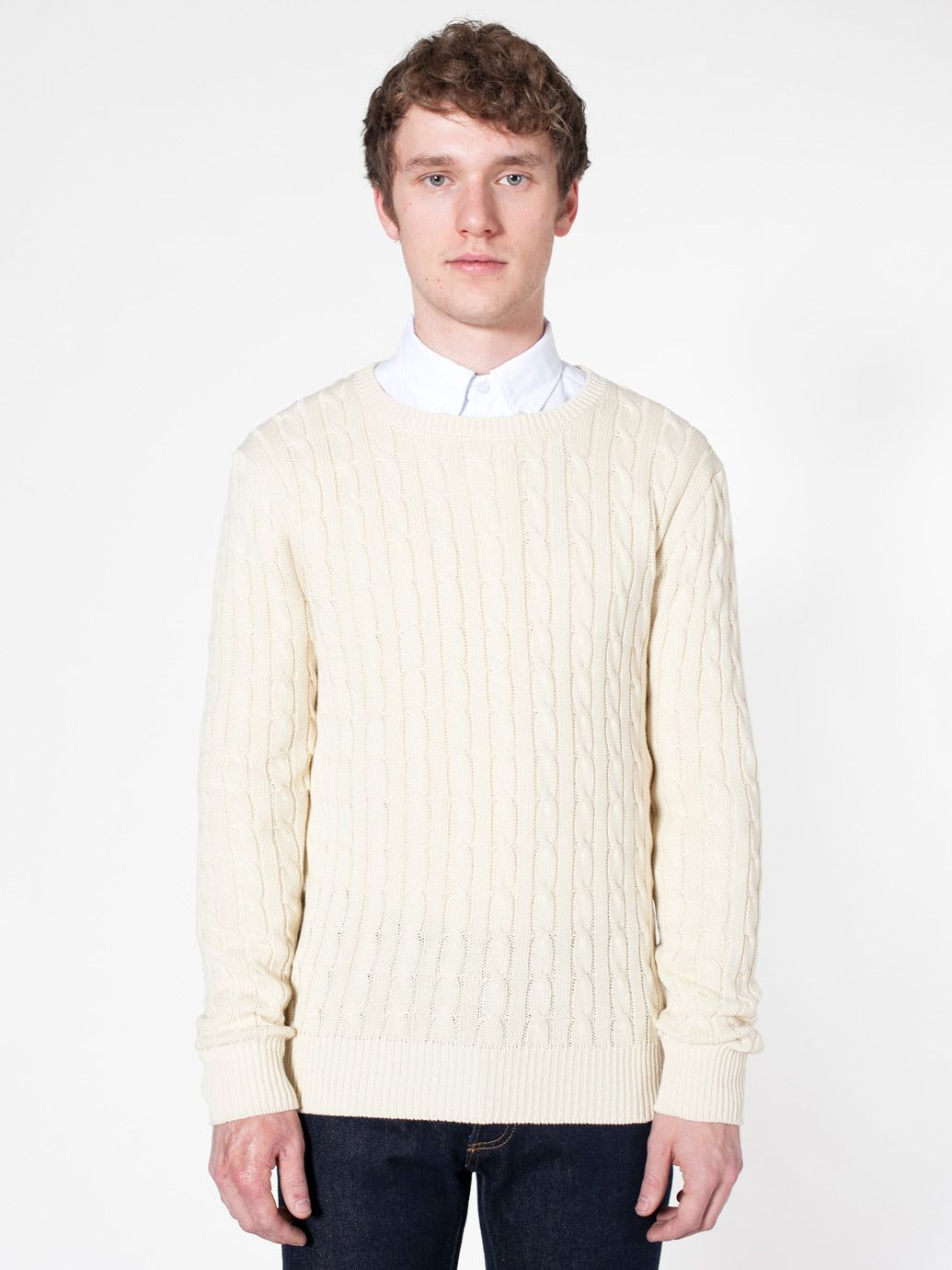 American Apparel - Men's Cable Knit Sweater | Neat Clothes ...
