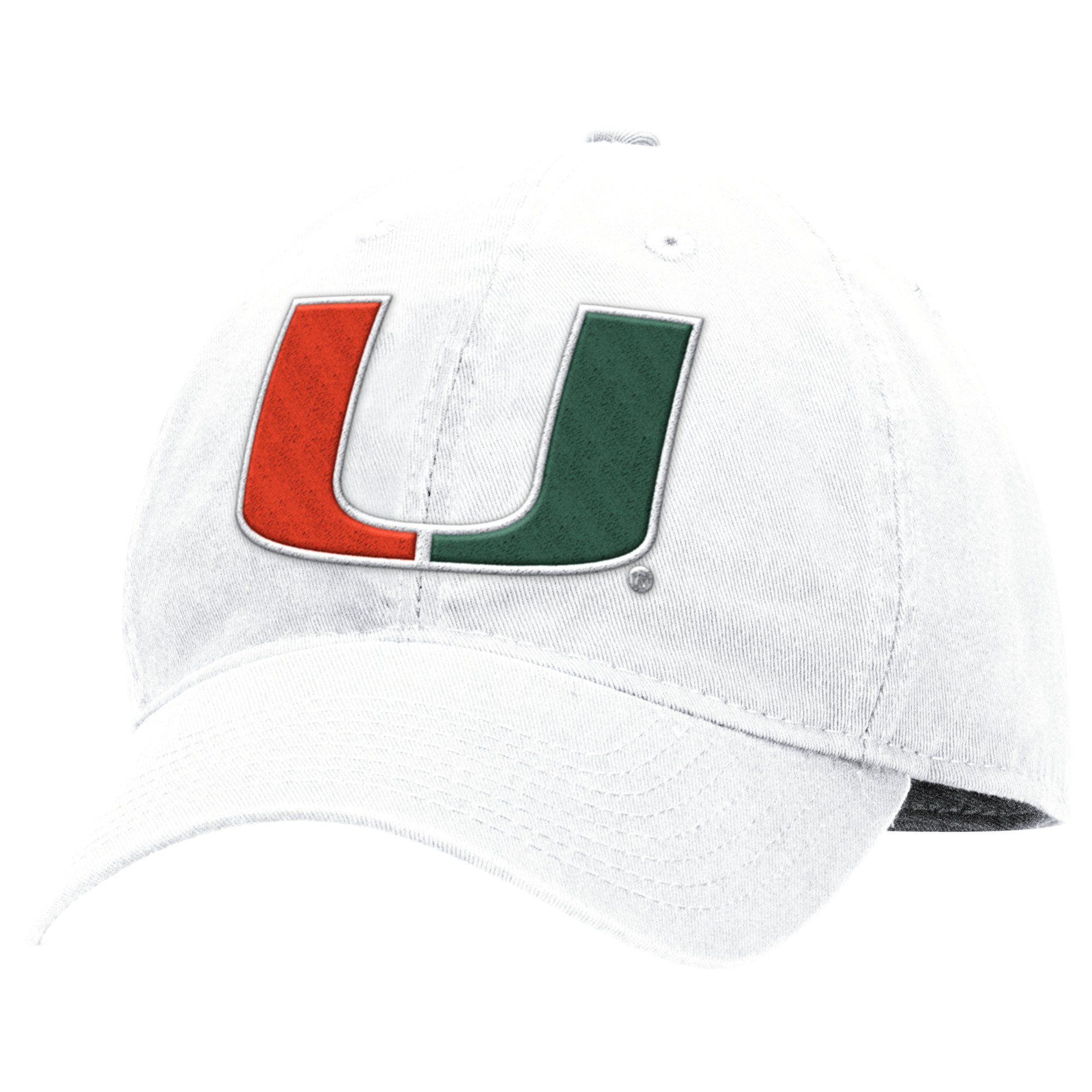 outlet store d9214 ef4db Miami Hurricanes adidas 2017 Adjustable Slouch U Hat - White