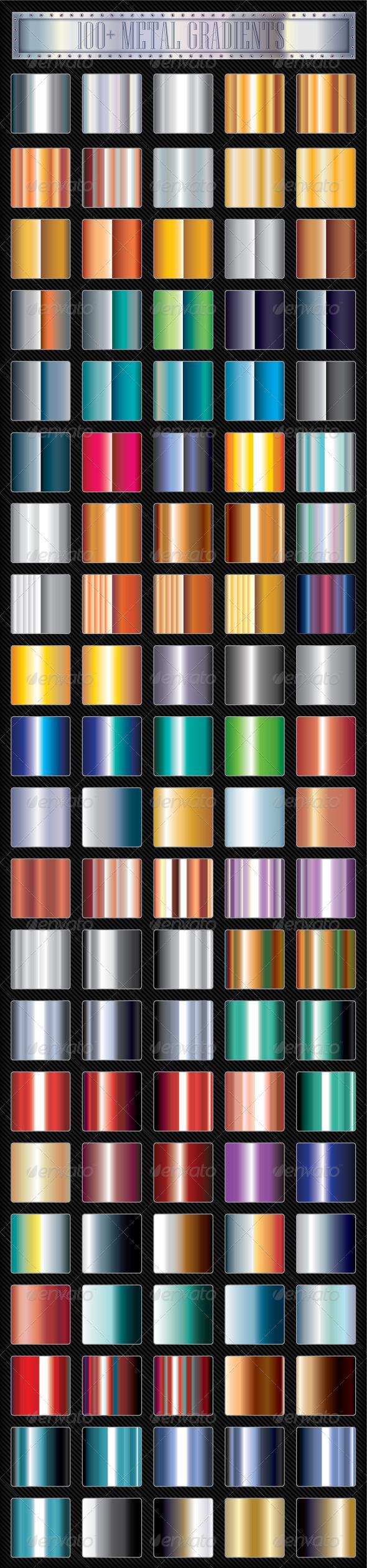 Metal Gradients Adobe illustrator pattern, Metal
