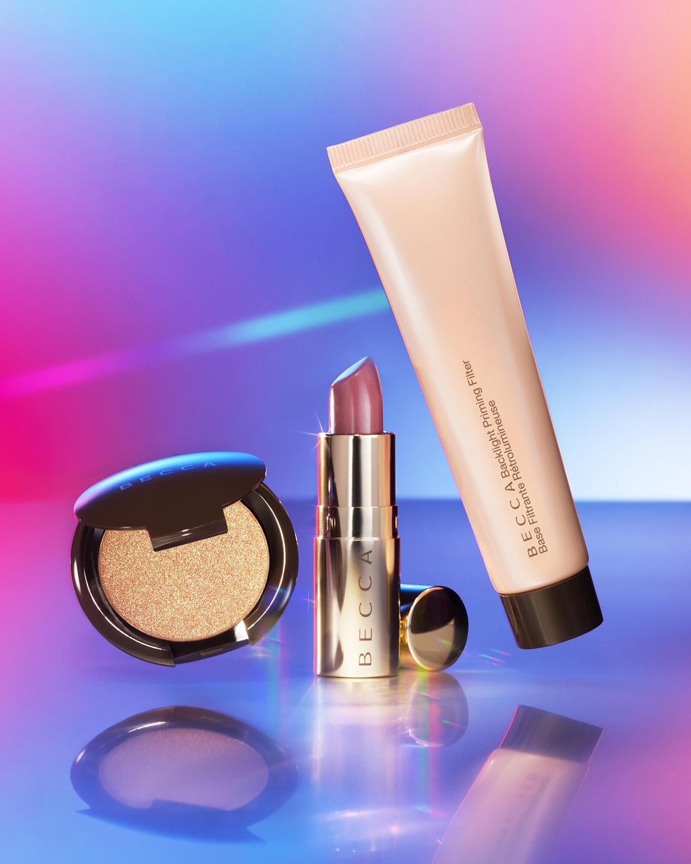 Primer, Highlighter & Lip Kit Becca cosmetics, Glow kit