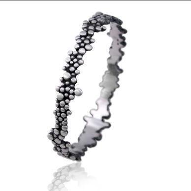 7880dbc7b Molecular bracelet is made of fine and sterling silver. The whole piece is  build up from varied in size granulation. Each single silver granule is  made by ...