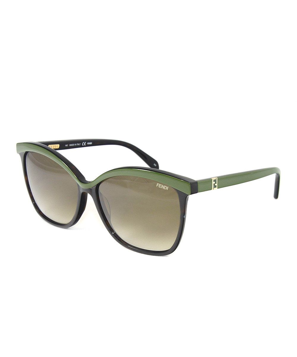 6f1e84fc9ac98 Love this Havana   Green Cat-Eye Sunglasses by FENDI on  zulily!   zulilyfinds