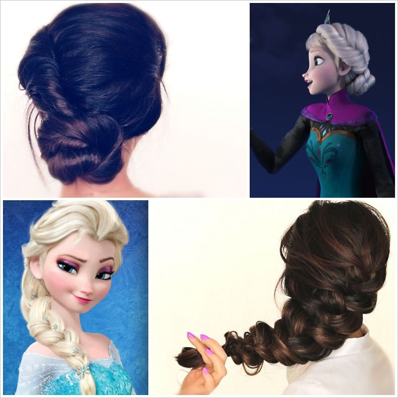 Spectacular Disney Frozen Movie Inspired Hairstyle Tutorials Hair Tutorial Diy Hairstyles Hairstyle