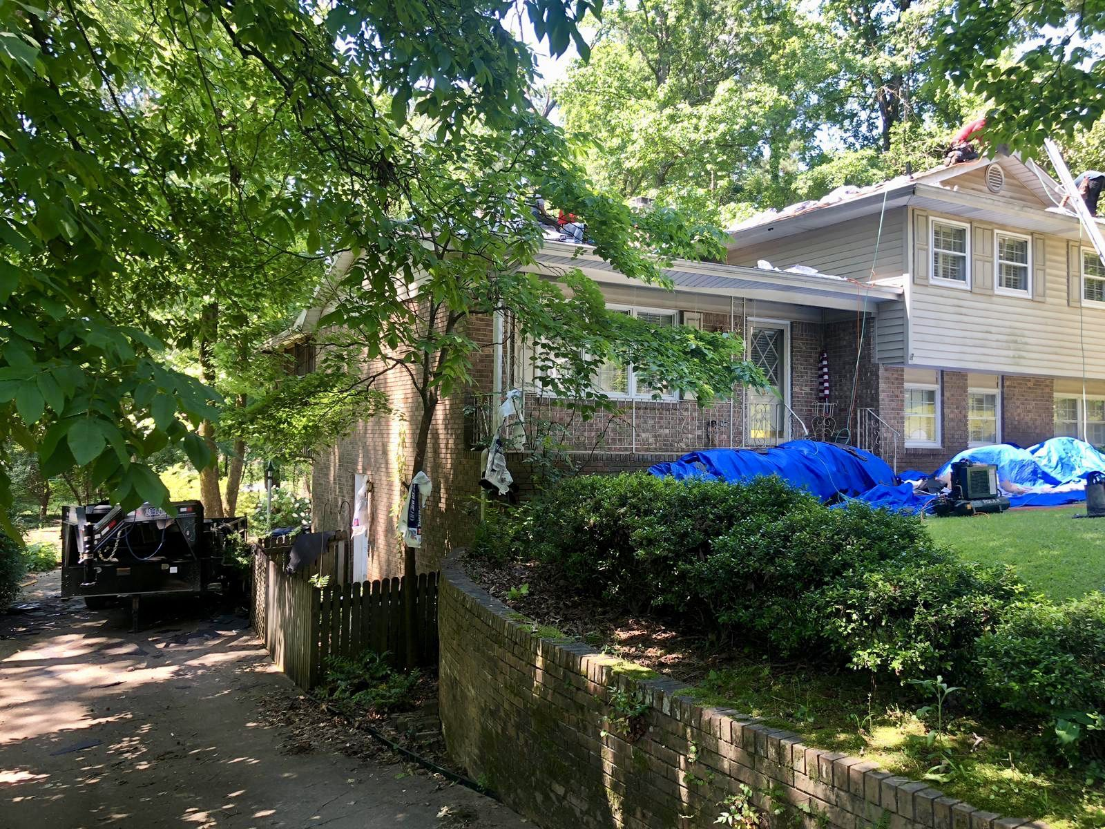 The Blue Angels Roofing Crew Is Replacing A Roof In Hoover Our Team Is Happy To Guide Each Customer Through Every Step Roofing Roofing Contractors Roof Repair