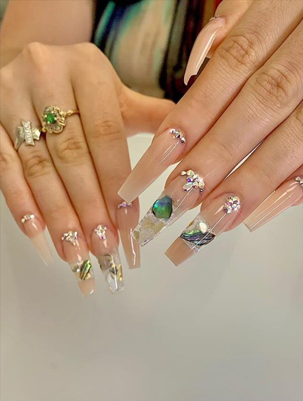 2020 Trendy gel coffin nails design this Summer, elegant and beautiful