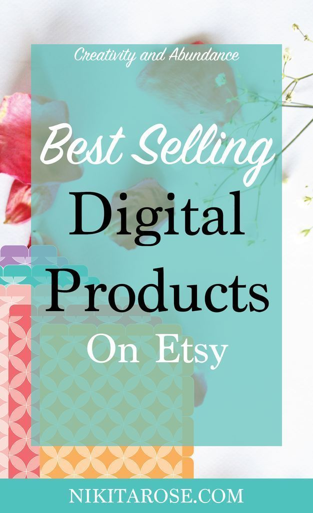 Top Selling Ideas For Digital Products On Etsy