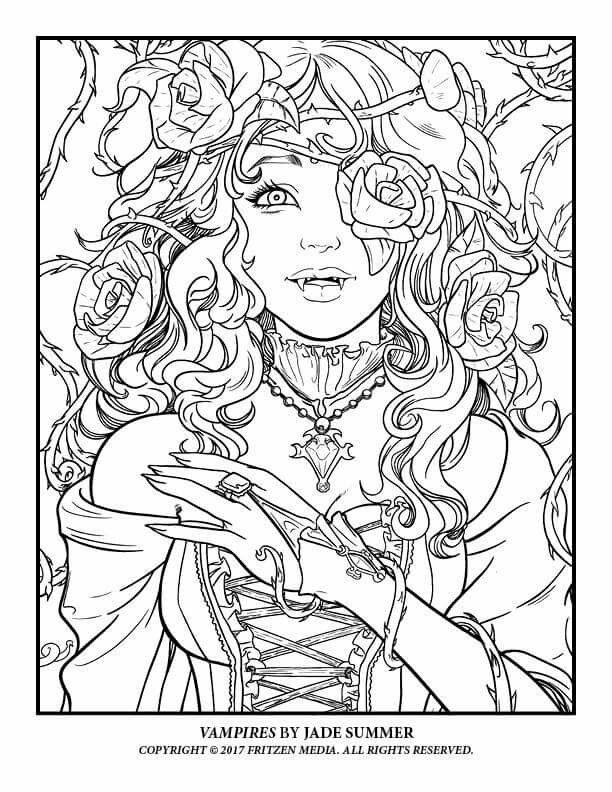 Vampire Coloring Page Halloween Summer Coloring Pages Unicorn Coloring Pages Fairy Coloring Pages