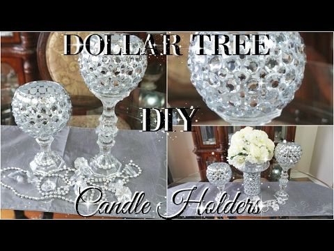 Diy Dollar Tree Bling Candle Holders 2017 Petalisbless Diy Dollar Tree Bling Candle Holders Aff Dollar Tree Candle Holders Dollar Tree Candles Bling Candles