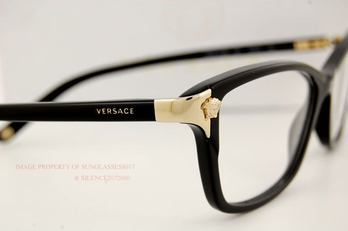 Brand New Versace Eyeglasses Frames 3156 Gb1 Black For