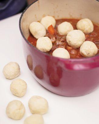 Easy stew dumplings from Jamie Oliver