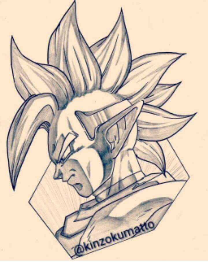 Tapion Lapiz Dibujos De Dragon Goku Dibujo A Lapiz Personajes De Dragon Ball