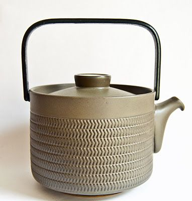 Denby Chevron Teapot - Steel Handled