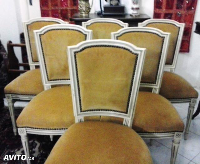 Six chaises de salle à manger style Louis XVI Nimes Pinterest - salle a manger louis