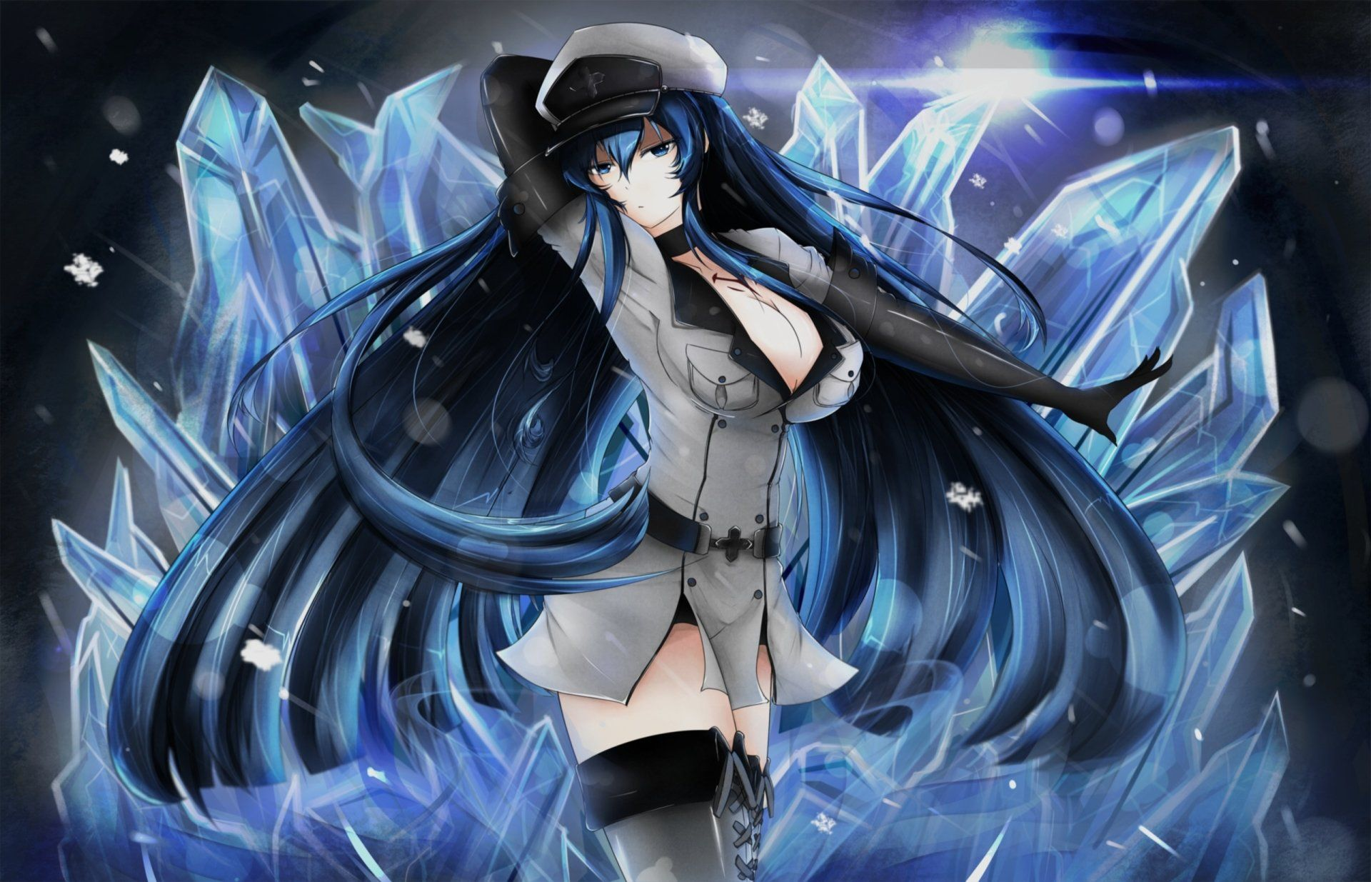 Anime Akame Ga Kill Esdeath Akame Ga Kill Wallpaper Akame Ga