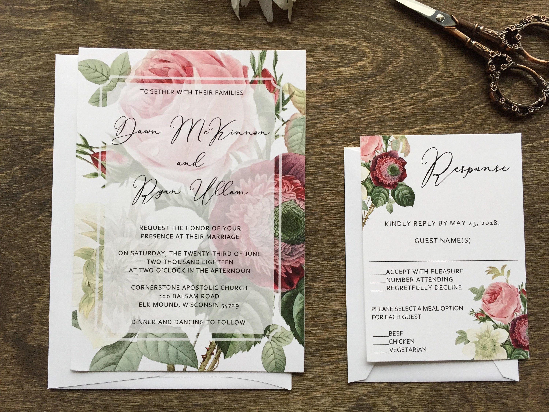 Burgundy Botanical Wedding Invitation Botanical Wedding Etsy Botanical Wedding Invitations Wedding Invitations Romantic Floral Wedding Invitations