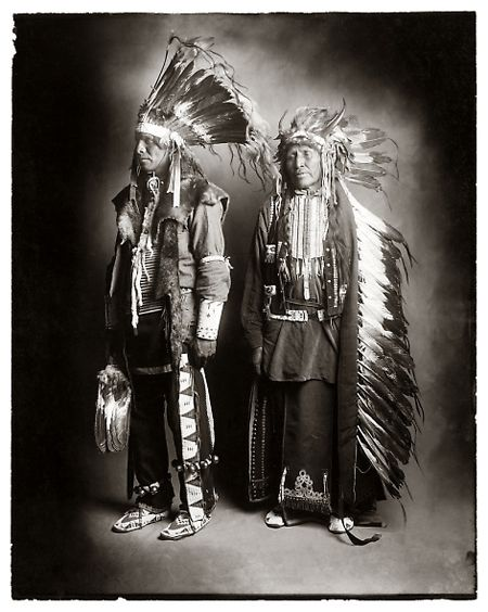 These Native American people where photographed in the early 1900s, by William Pennington and Lisle Updike who spent traveling the four corners of Colorado, utah, New Mexico and Arizona in a wagon. These prints were recently rediscovered by the Denver Post librarians. More pictures can be seen here. via neatorama.com