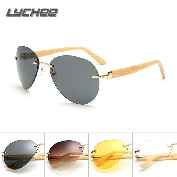 7783bc6b2b FuzWeb LYCHEE new Men s new bamboo foot multi-color sunglasses wood glasses  driving shade sunglasses fashion sunglasses