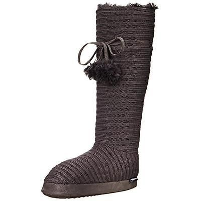 #Shoes #Apparel Muk Luks 9864 Womens Gray Knee-High Ribbed Winter Boots Shoes M 6.5-7.5 BHFO #Christmas #Gifts