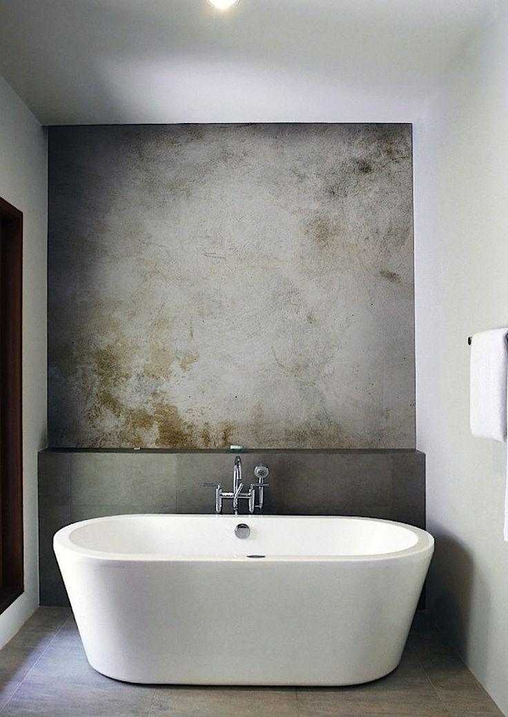 Muur van Tadelakt - Badkamer | Pinterest - Vrijstaand bad, Bad en Muur