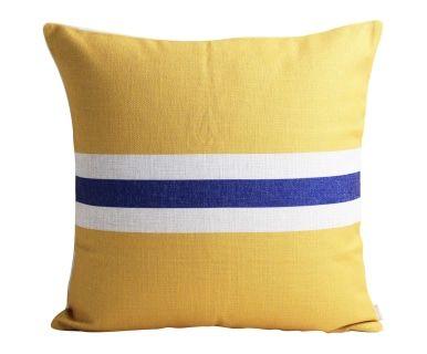 Housse de coussin EMMA, jaune et bleu - 45*45